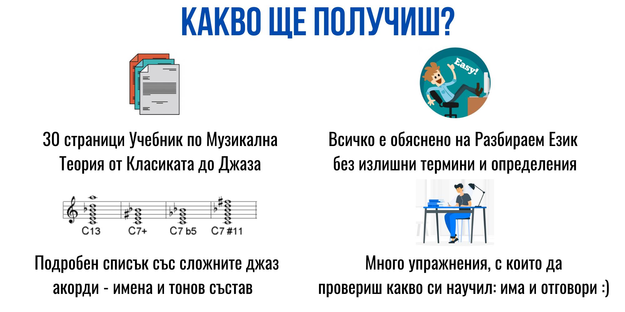 какво ще получиш Музикална Теория